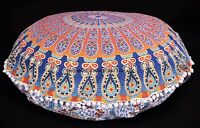 Large Floor Pillows Indian Mandala Round Cushion Covers Pouf Ottoman Throw 32""
