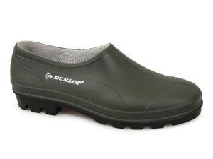Dunlop GARDENER Hevea Mens Womens Unisex Rubber Grip Sole Garden Clog Dark Green