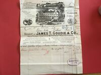 Goudie and Co Indian Rubber Asbestos Manufacturers Illustrated receipt R33091