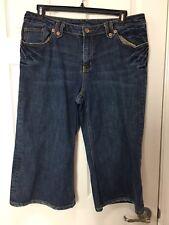 Seven7 Jeans Plus Sz 18 Dark Wash Denim Capris Crop Pants