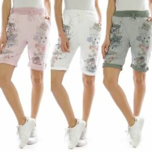 Ladies Casual Capri Shorts relaxed fit Printed Cotton One Size UK 8/10