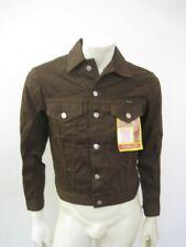 NWT 1960s Vintage WRANGLER Brown Slim Fit Trucker Jean Jacket DEADSTOCK Size 36