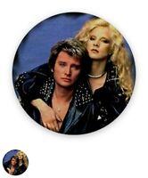Johnny Hallyday Badge magnétique 5,7cm