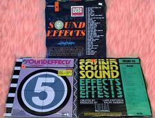 SOUND EFFECTS - ELEKTRA, GATEWAY, TRC LABELS  -  (3) LP'S - STILL SEALED