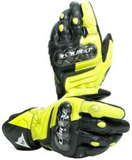 Glove Motorcycle Racing Leather Dainese Carbon 3 Long Gloves Yellow