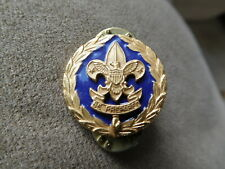 AN SCOUT BSA COMMISSIONER PIN COLLAR BRASS ADULT POSITION DEVICE UNUSUAL INSIGNI