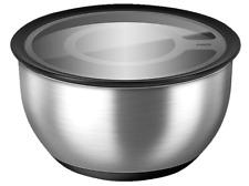 EMSA ACCENTA Schaltschale Salatschüssel Servierschüssel Edelstahl+Deckel 1,2L