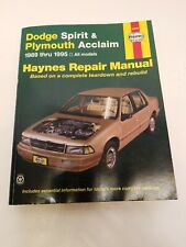 Dodge Spirit & Plymouth Acclaim 1989 Thru 1995 (Haynes Repair Manuals),