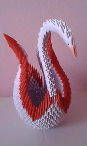3D ORIGAMI SWAN (LARGE SIZE) WITH DIFFERENT COLORS