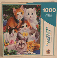 New Master Pieces 1000 Piece Jigsaw Puzzle Puuurfectly Adorable Cat Cats Kittens