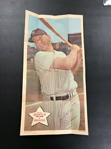 1968 Topps Poster Set Break  Mickey Mantle  # 18 New York Yankees  Ex condition