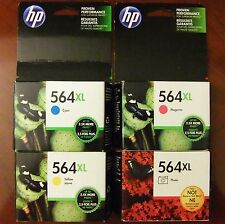 4-Pack Genuine HP 564XL Color & Photo Ink Photosmart (Retail Box) 7525 Exp. 2018