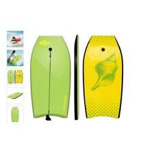 """Green & Yellow 42"""" Lightweight Super Bodyboard w/ Leash Ixpe Deck Eps Core Boar"""
