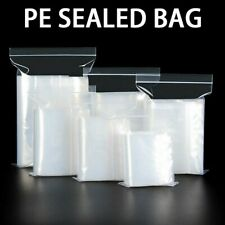 100Pcs Plastic Bags Baggies Grip Big Polythene Resealable Lock Storage