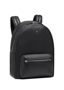 Montblanc Meisterstuck Soft Grain City Bag Backpack 116736 Black $865 Italy