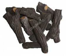 GAS FIRE REPLACEMENT CERAMIC LOG SET THE DELAMERE COLLECTION FOR GAS COAL PEBBLE