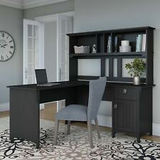The Gray Barn Lowbridge 60 Inch L Shaped Desk With Hutch In Black Large