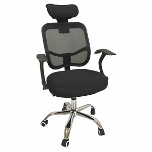 DynaSun Home Office Swivel Chair in Polyester, Fabric and Net Presidential