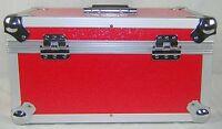 "1 X NEO Aluminum Red Vinyl 7"" Storage for Records 200 Singles DJ Flight Case"