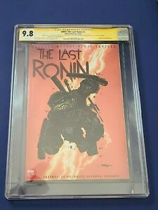 The Last Ronin 1 🐢 CGC 9.8 SS 1:10 Variant REMARQUE Eastman Bishop BACK COVER🔥