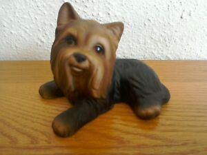 Harvey Knox HHH Yorkshire Terrier Dog Laying Figurine Ornament