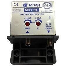 AMPLIFICATORE DA PALO IMPIANTI TV LTE STOP MK122L 3+UHF (24R) MITAN M54331201