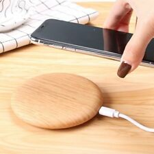 Wireless Qi Charger Charging Pad wooden for iPhone X iPhone 8 plus Samsung