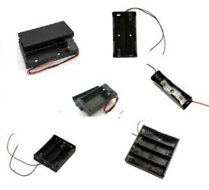 18650 Battery Holder box case  3.7 Box  multi choice 1 2 3 4 cell  9v pp3 uk
