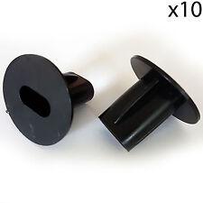 10x Cable Doble Escopeta arbustos 8mm Negro-feed a través de la pared cubierta-Coax agujero ordenado