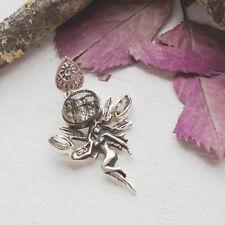 Turmalinquarz & Herkimer Diamant, Engel, Anhänger, 925 Sterling Silber, neu