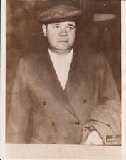 """May 16th, 1935 - BABE RUTH """"No, I Won't Quit Baseball!"""" - Original News Photo"""