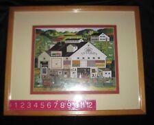 "Charles Wysocki ""Peppercricket Farm"" Antique Framed Print Americana Folk Country"