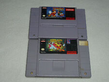SUPER NINTENDO SNES GAME CARTRIDGE LOT MICKEY MOUSE MANIA THE MAGICAL QUEST