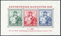 BIZONE 1949, Block 1 a, postfrisch, II. Wahl, Mi. 140,-
