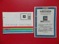 Bedienungsanleitung und Garantie Urkunde RFT CHROMAT Fernseher DDR 1978 ( 15238
