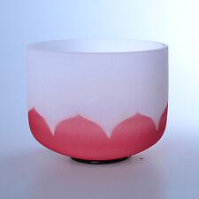 "8"" C Root Lotus Red Wholesale Chakra Crystal Quartz Singing Bowl Heal Stone"