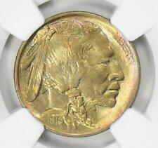 1913 P NGC + CAC Type 1 MS64 Rainbow Toned Buffalo Indian Nickel Better Date
