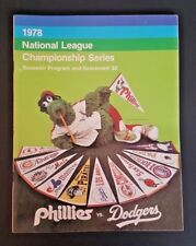 1978 NLCS PHILLIES VS. DODGERS PROGRAM & SCOREBOARD UNMARKED GREAT COND!