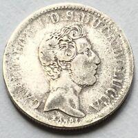 *Ducato di LUCCA - Carlo Lodovico di Borbone - 2 Lire 1837 - Rara!