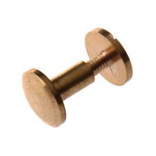 10x Perno del boton macizo de laton de arco Clavos de Tornillo Tornillo de C1V6