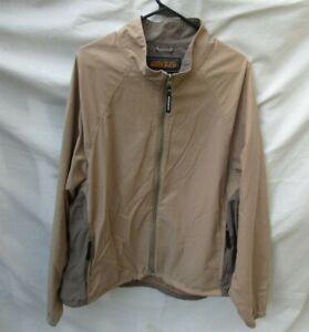 WOOLRICH Windbreaker Jacket Men 2XL cotton nylon Khaki Lightweight