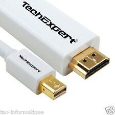 Cable Mini DisplayPort vers HDMI 1.4 3 mètres pour relier votre Mac à une TV LCD