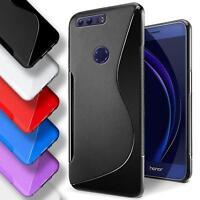 Honor 8 Silicone Gel S Line Case Cover Ultra Thin Slim Back Bumper
