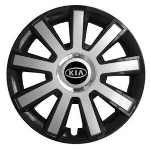 """14"""" Wheel trims wheel covers fit KIA Picanto Rio Cee'd 14 inches silver black"""
