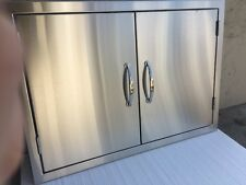 """USA MADE!!!  *NEW 30"""" DOUBLE WALLED BBQ ISLAND 304 SS DBL DOOR & SS HANDLES*"""