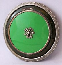 Beautiful Vintage Enamel Compact Powder Box