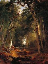 PAINTING LANDSCAPE DURAND WOODS HISTORIC LARGE REPLICA POSTER PRINT PAM2095