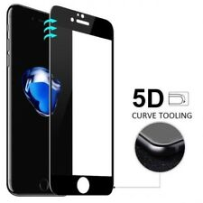 Glass Screen Protector FULL 5D EDGE to EDGE for iPhone 8 Tempered Glass (Black)