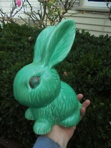 VINTAGE SYLVAC BUNNY RABBIT GREEN MODEL 1028 THE LARGEST