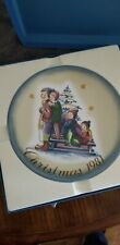 A Time To Remember By Berta Hummel Christmas 1981 Plate In Original Box